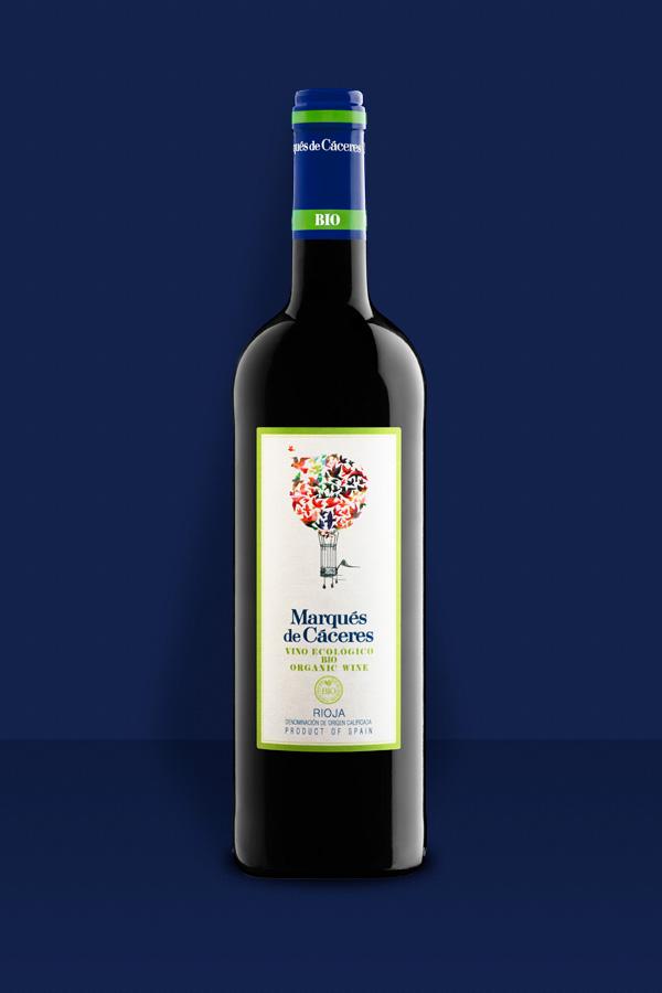 Marqués de Cáceres. Uno de los vinos ecológico mejor valorados no solo de Rioja sino a nivel global.  Esto es indicador del alcance cada vez mayor del cultivo ecológico del vino.