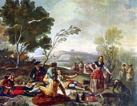 """""""La merienda"""" de Francisco de Goya es un cuadro en el que se refleja la vida de la época de la que el vino forma parte."""