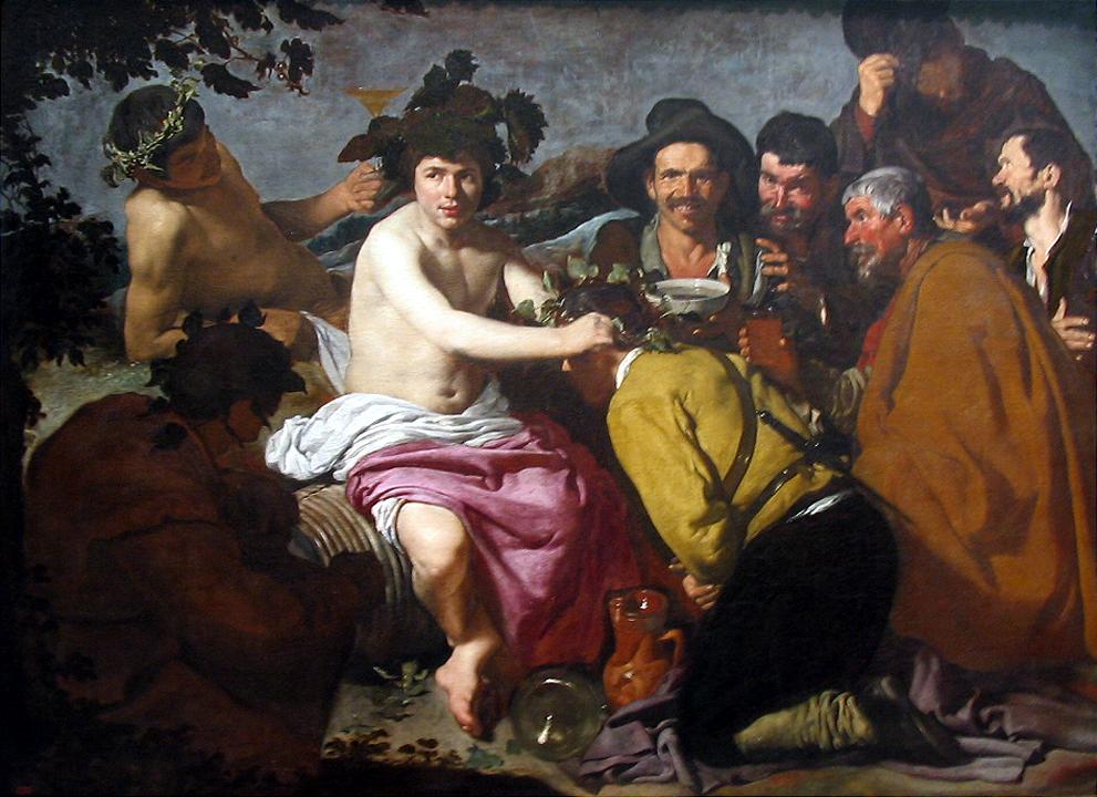 """El vino y sus efectos vistos por Veláquez en su obra """"El triunfo de Baco"""" también conocido como """"Los Borrachos"""" de Velázquez"""