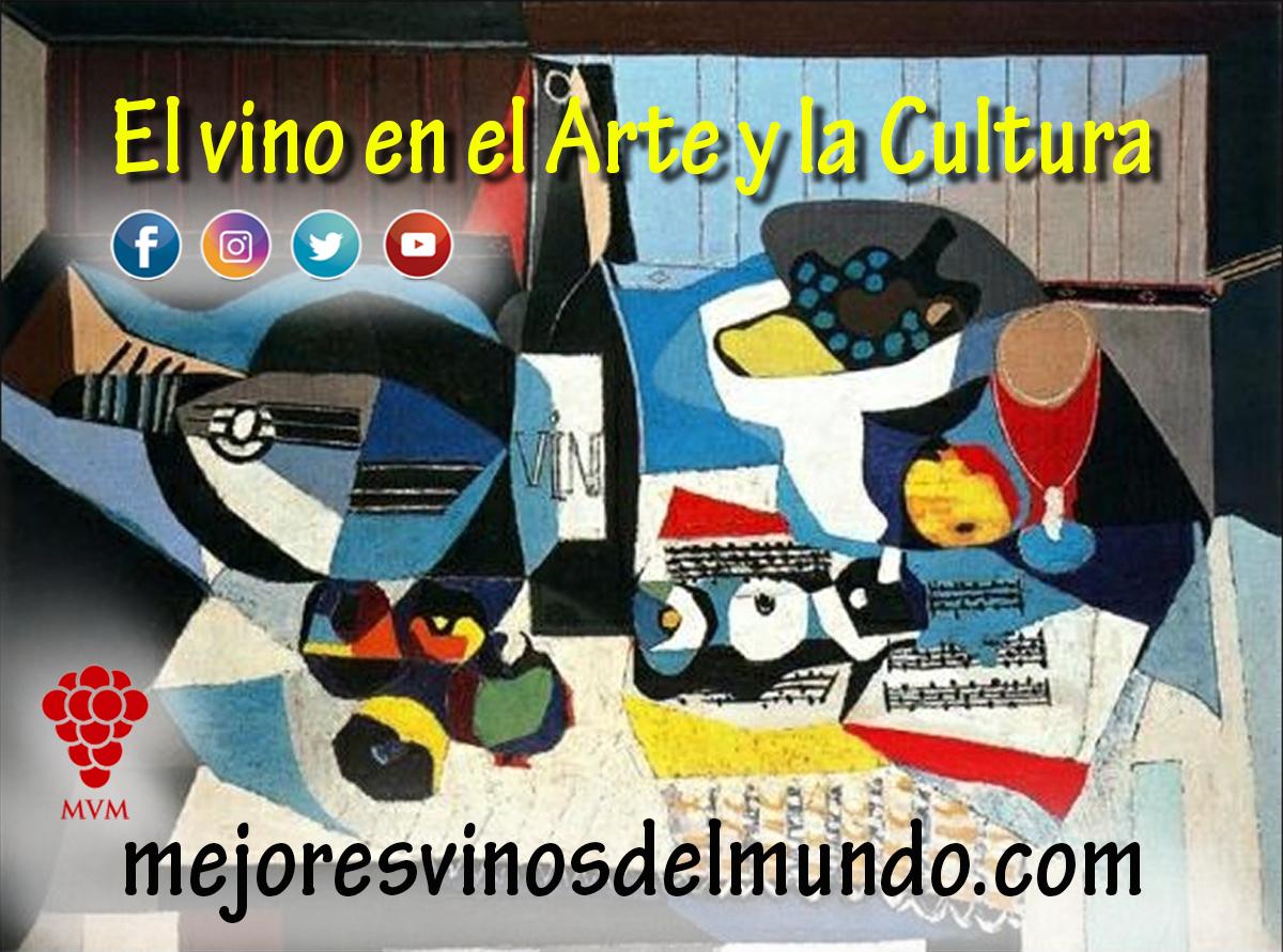 """El vino en el Arte y en la Cultura. En este cuadro titulado """"la Botella de vino"""" de Pablo Ruiz Picasso."""