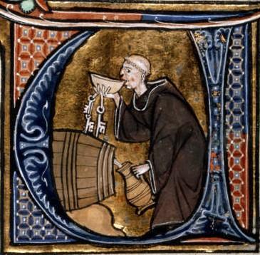 El vino en la religión. Los monjes fueron durante siglos los encargados bien por mandato divino o por placer o por ambas del cultivo y la crianza de vinos.