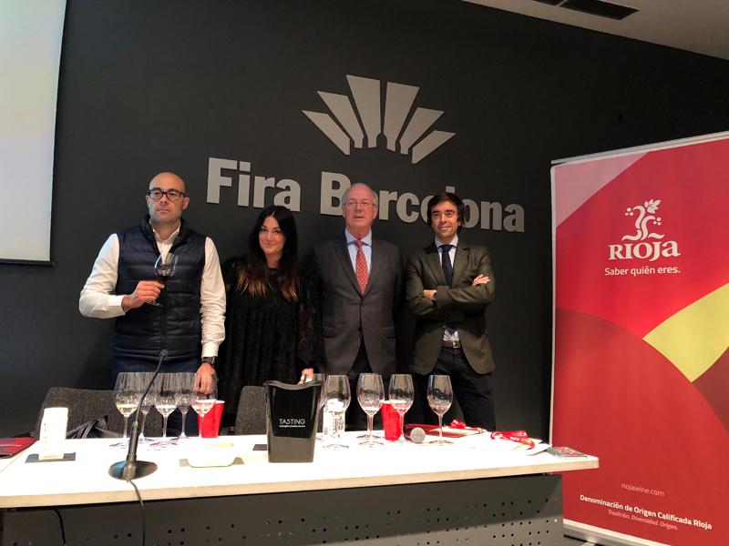 Componentes del DOCa Rioja desplazados a la Barcelona Wine Week