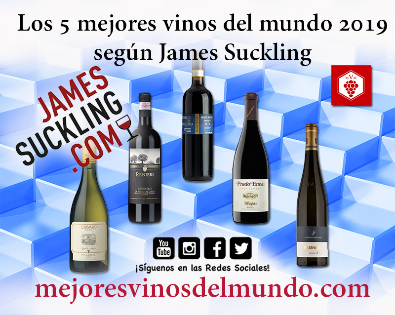 Los 5 mejores vinos del mundo según James Suckling. Tres vinos italianos, un español y un alemán.