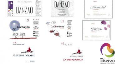 etiquetas de los nuevos vinos DO Bierzo