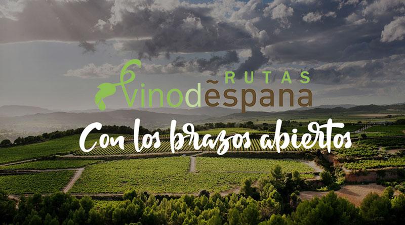 """Imagen camapaña rutas de vino españa """"con los brazos abiertos"""""""