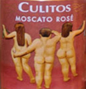 Aquí se cumple lo de tal etiqueta, tal vino. ¿Tomamos un culito de moscato Rosé?