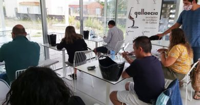 Momento de la cata donde Ribeiro, los vinos gallegos más premiados