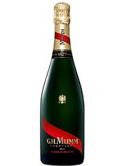 Mumm es uno de los champanes que gustan. Con la barbacoa de hoy se ha mostrado importante, suntuoso, genial.