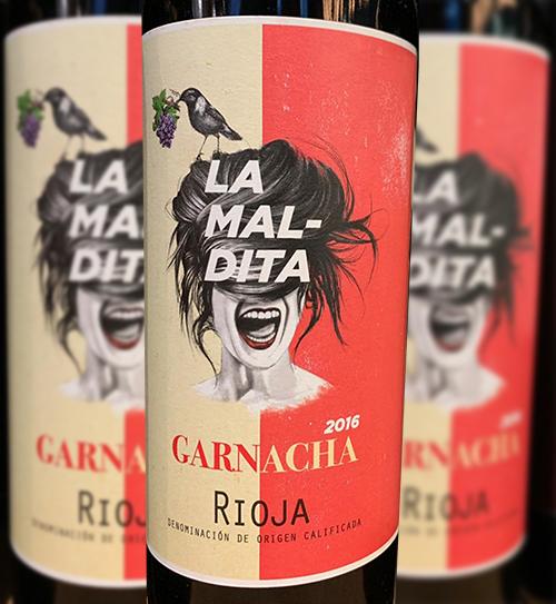 La Maldita, por la dificultad de elaborar con GARNACHA vinos de alta calidad y por sus rendimientos tan bajos y poco rentables para el viticultor. Pero la garnacha en los últimos años va ganando terreno y no poco.