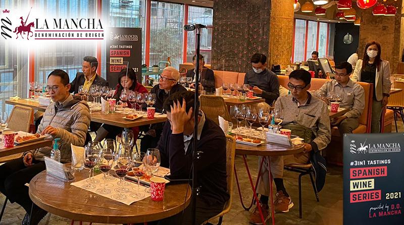 DO La Mancha organiza Catas en China y es que han retomado la actividad en seminarios de cata de vinos.