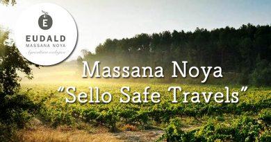 Massana Noya Sello Safe Travels, certificado que constata el buen trabajo hecho por la bodega desde 2017.