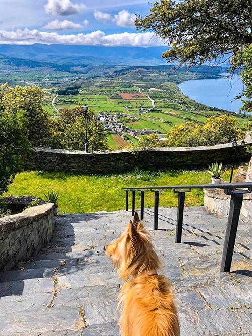 Desde el Hotel The Rock Suite And Spa las vistas son extraordinarias. El embalse de Bárcena y el valle en general son visita obligada enoturística.