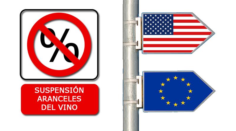 Optimismo ante la suspensión temporal de aranceles de EEUU a Europa y esto afecta directamente a las exportaciones de vino hacia el país americano.
